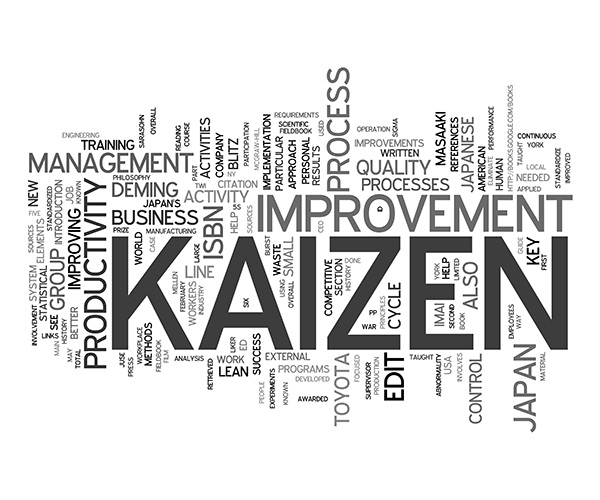 Kaizen in lean manufacturing process